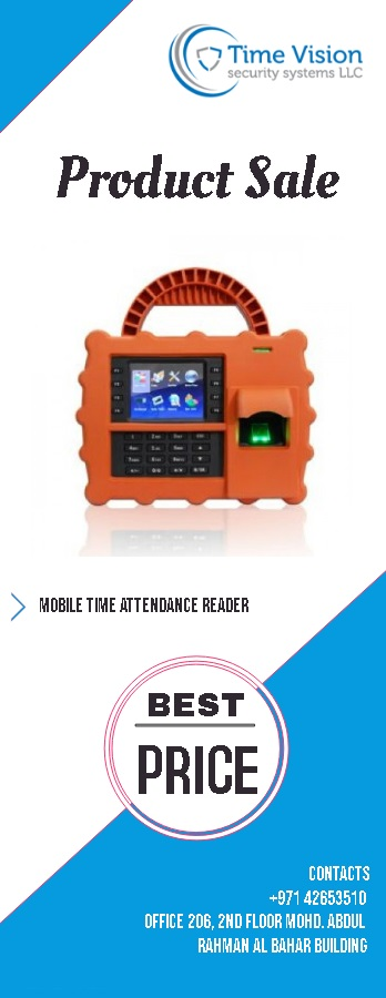 Mobile time attendance reader in Dubai