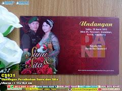 Undangan Pernikahan Sunu Dan Sita