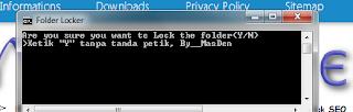 MembuatLock File Pribadi dengan Notepad