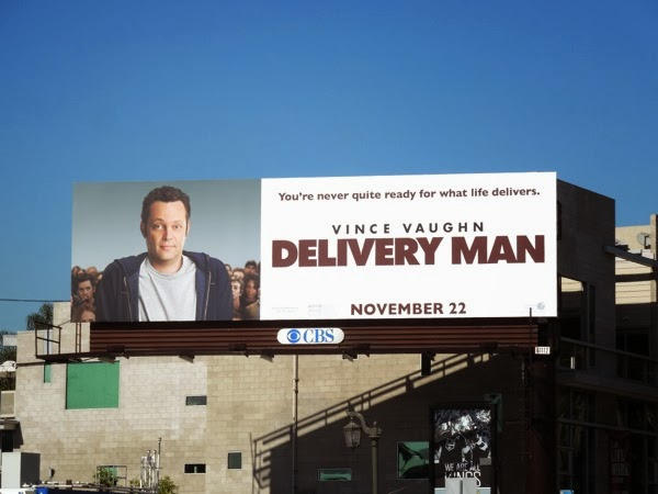 Vince Vaughn Delivery Man movie billboard