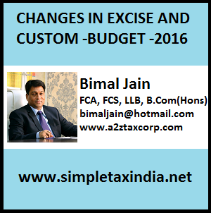 impact of changes in excise tax
