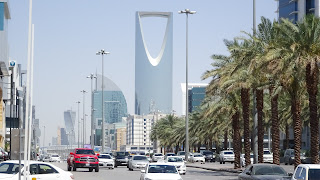 In the streets of Riyadh English is spoken by most Saudis
