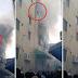 Mãe desesperada joga os três filhos da janela de prédio em chamas em tentativa de salvá-los, assista o vídeo