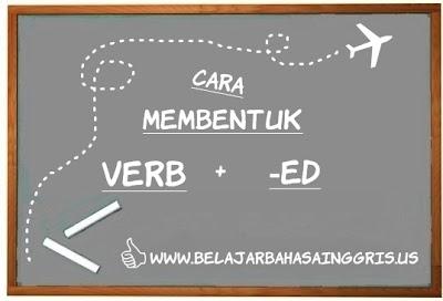 Pembentukan Verb + ed, Cara membentuk Verb + ed, Bagaimana membentuk Verb + ed, Kata Kerja + ed, Past Participle.