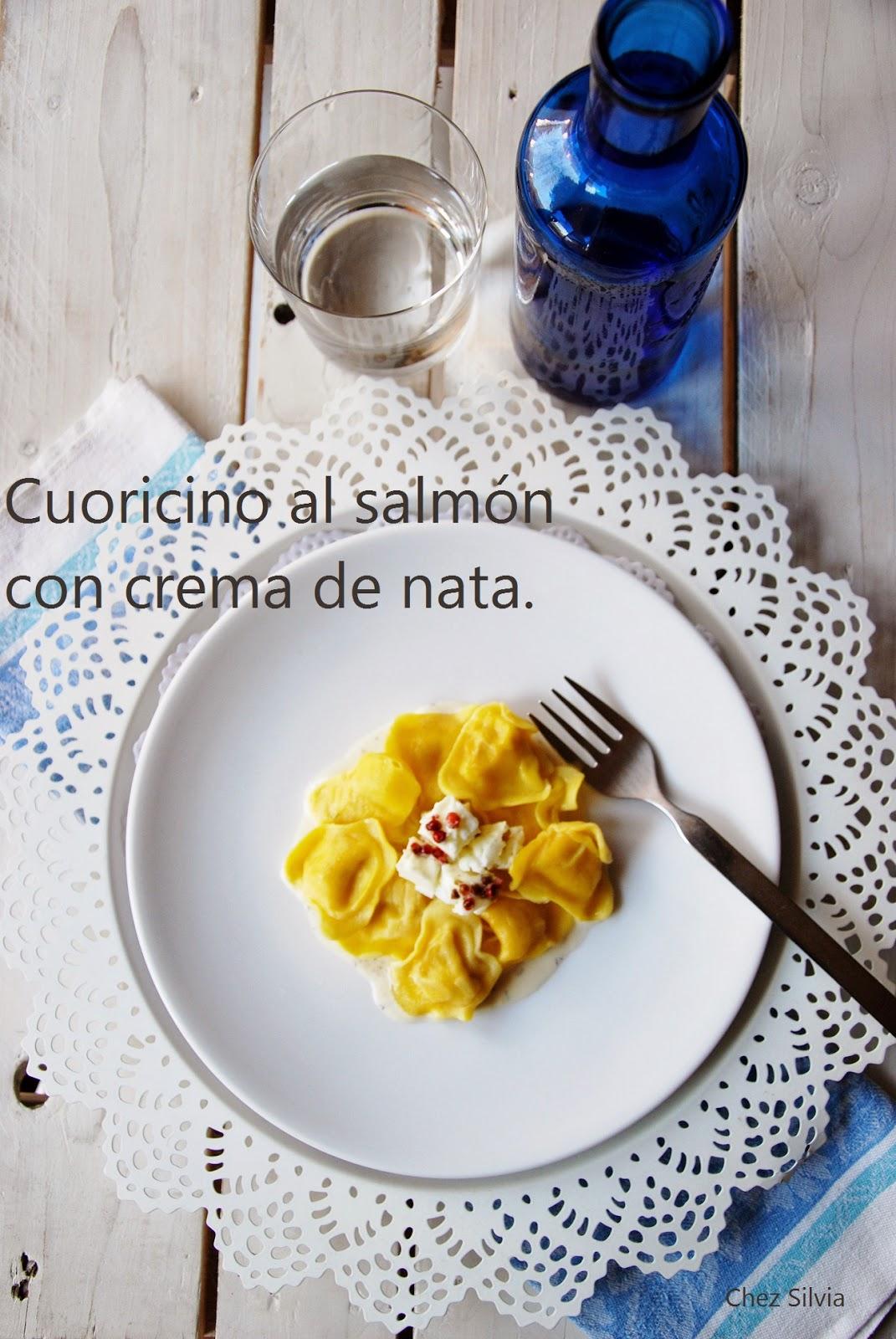 raviolis de salmon