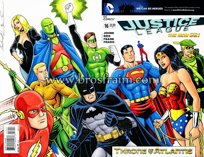 JUSTICE LEAGUE #16 Sketch Cover!