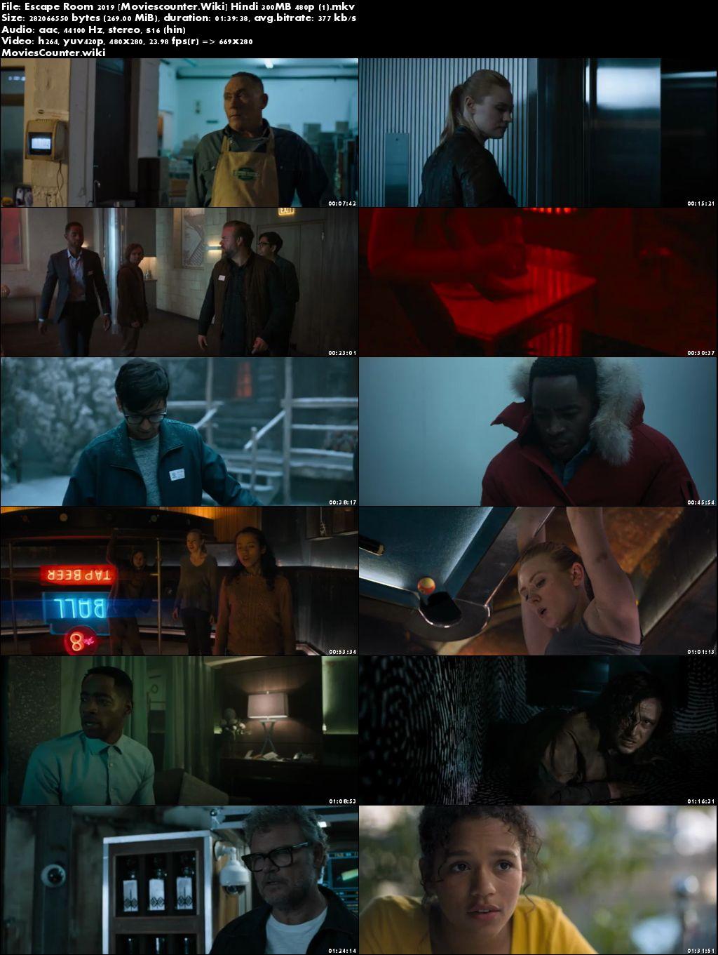 Screen Shots Escape Room 2019 Dual Audio HD 300MB