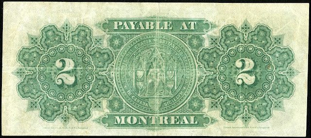 Dominion of Canada 2 Dollars Banknote 1878 Queen Victoria's Great Seal of Canada