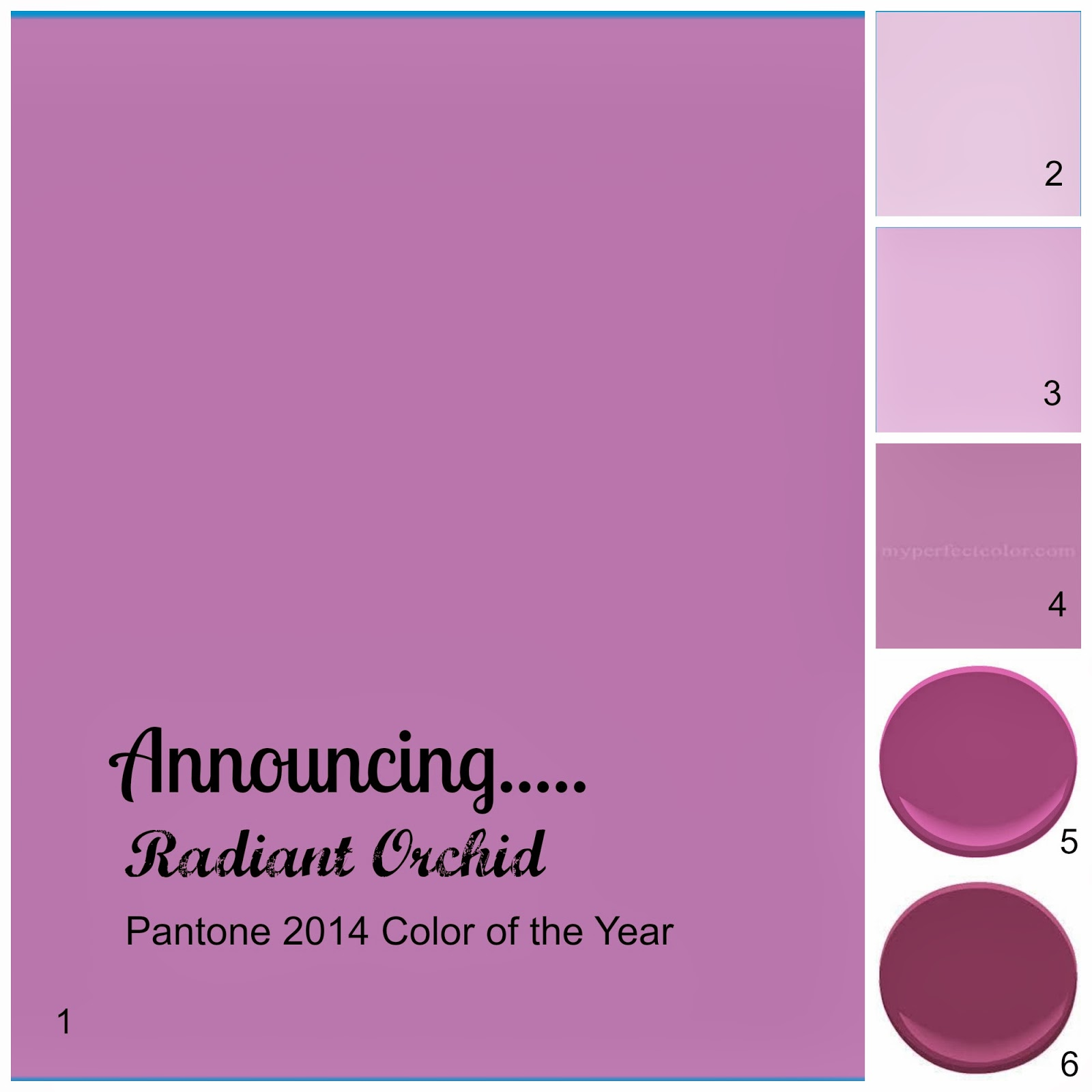 lisa mende design my top 5 radiant orchid paint colors pantone