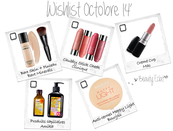 wishlist beaute bareminerals bourjois amika mac clinique