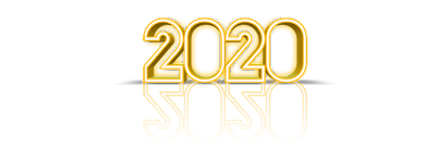 happynew year 2020 gold png download