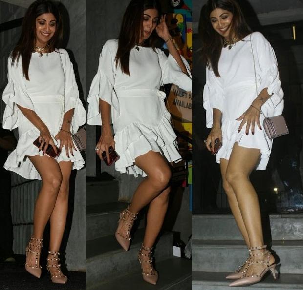 हवा में उड़ी इस हिरोइन की ड्रेस, संभालना हुआ मुश्किल - Dress of Shilpa Shetty