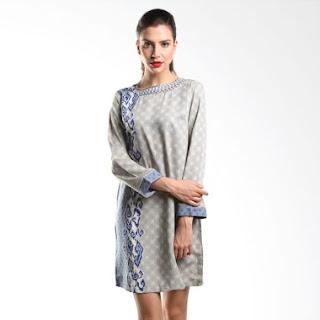 Model Baju Batik Kerja Kombinasi Modern