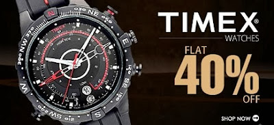Flat 40% off on Timex Watches for Men's & Women's at Snapdeal