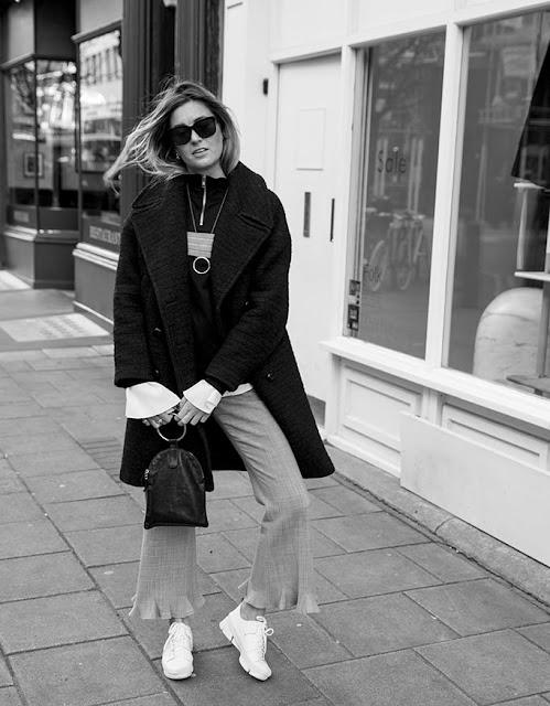 trendy, modne trendy, street style, spodnie z falbanami, jak nosić, atlantic pacific,