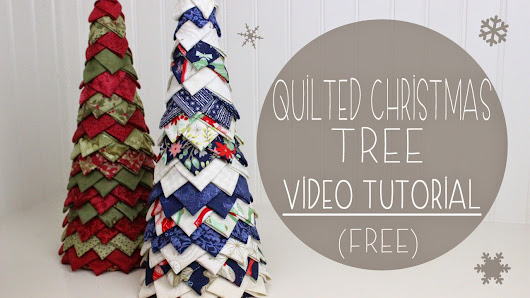 No Sew Quilted Christmas Tree Pattern and Tutorial