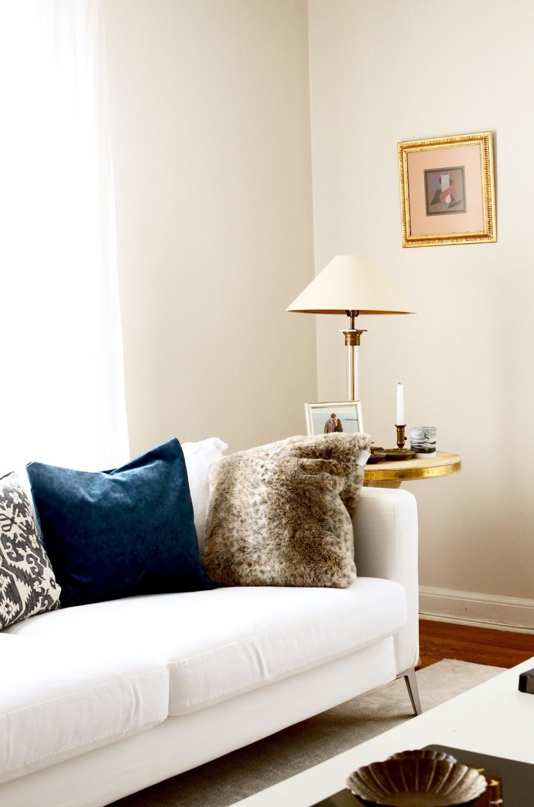 Blue Velvet in the Living Room  By Georgia Grace