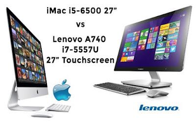 iMac i5-6500 gegen Lenovo A740  i7-5557U