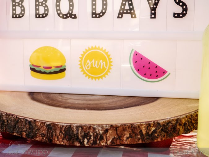 Heidi Swapp Lightbox celebrates the days of grilling by Jamie Pate  |  @jamiepate for @heidiswapp