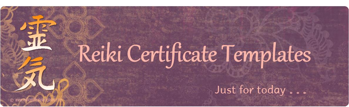reiki certificate template software - reiki certificate templates