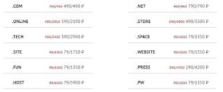 низкие цены на домены