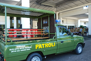 PICK UP MOBIL PATROLI