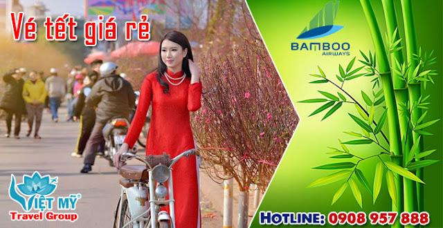Giá vé máy bay tết Bamboo Airways