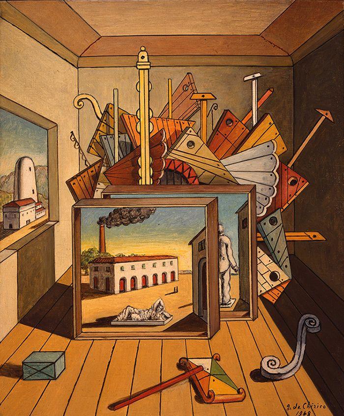 Внутренняя метафизика мастерской. 1969. Холст, масло. Фонд Джорджо и Изы де Кирико, Рим