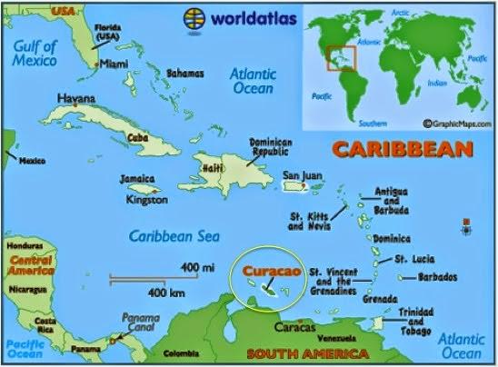 descobrindo os azuis de curaçao, no caribe - por lala