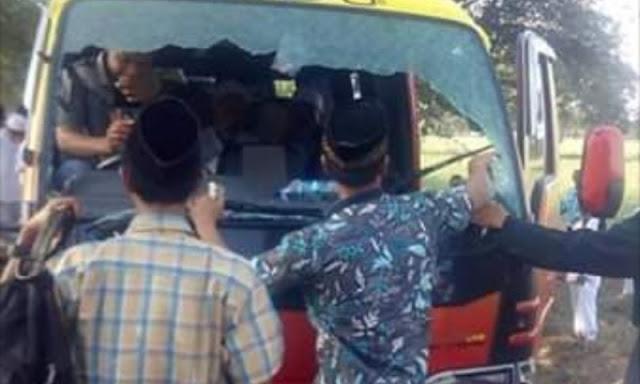 Waduh, Bus Rombongan Peserta Istighasah Kubro Dilempar Botol oleh Orang Tak Dikenal