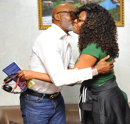 richard mofe damijo kemi adetiba kissing