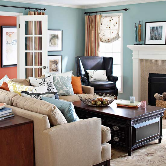 2013 Neutral Living Room Decorating Ideas From Bhg: Modern Furniture: 2013 Traditional Living Room Decorating