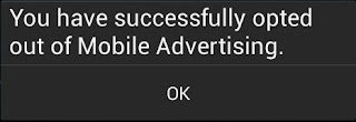 Successfully opt out of MTN mobile ads