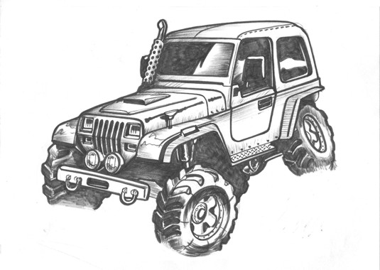 Lifted Jeep Rubicon Coloring Pages Coloring Pages
