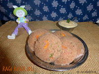 images of Ragi Rava Idli Recipe / Instant Ragi Rava Idli Recipe / Ragi Vegetable Idli Recipe - Millet Recipes