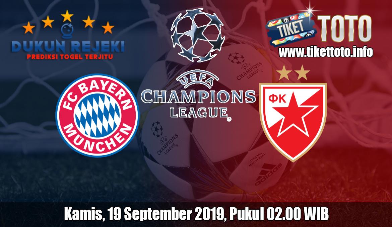 Prediksi Bayern Munchen VS Crvena Zvezda 19 September 2019