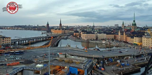 Vistas desde Katarinahissen, Estocolmo, Suecia
