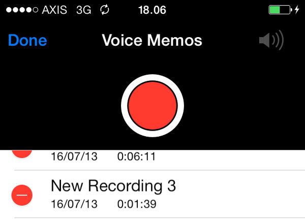 Delete Voice Memo iPhone iOs