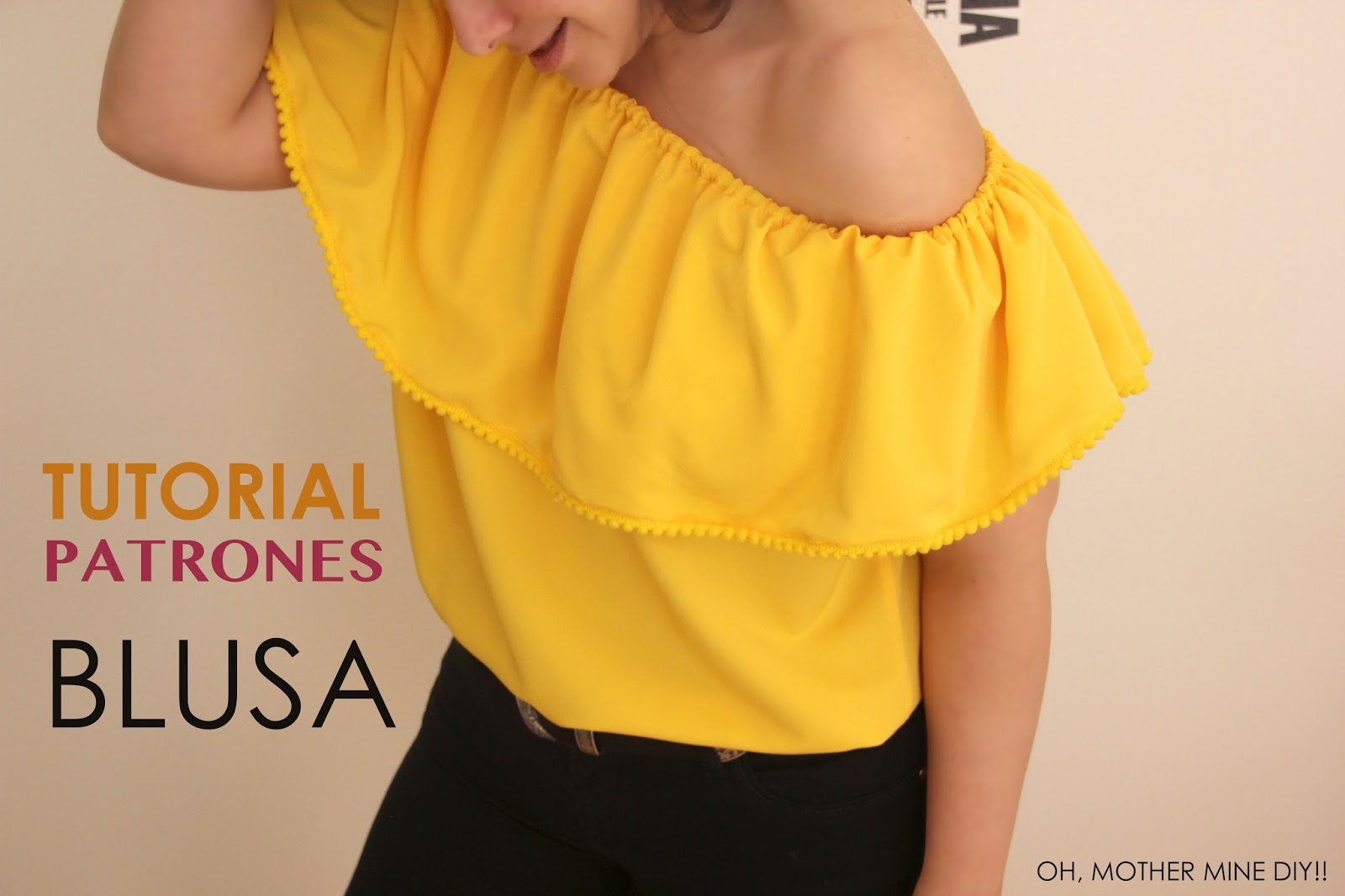 DIY Video-tutorial y patrones de blusa sin hombros - Handbox Craft ...