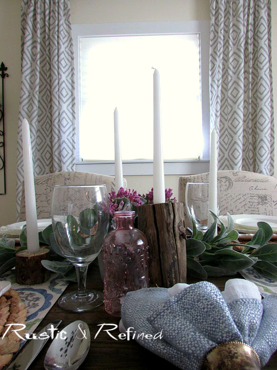 Rustic tablescape for entertaining.