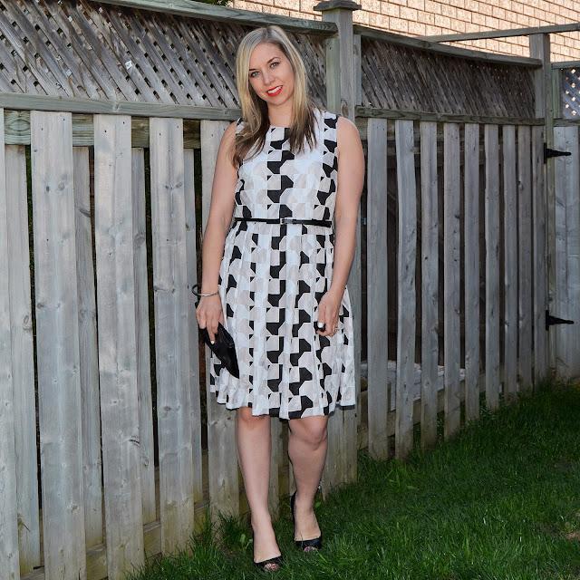 patterned dress for graduation