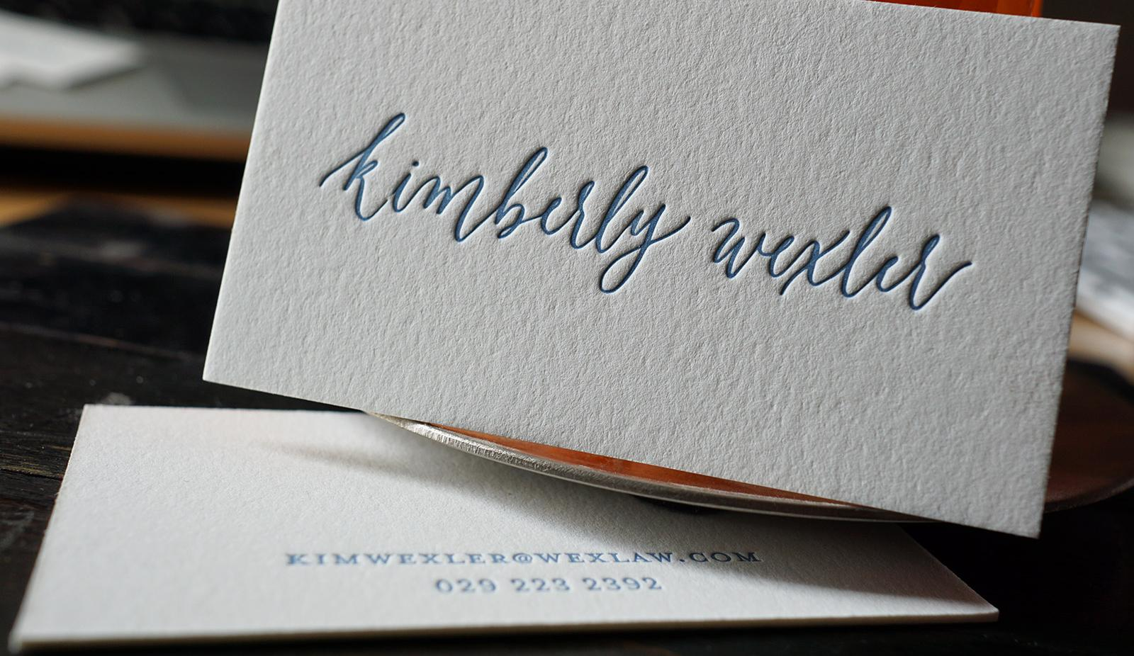 Letterpress business cards business card tips letterpress business cards reheart Images