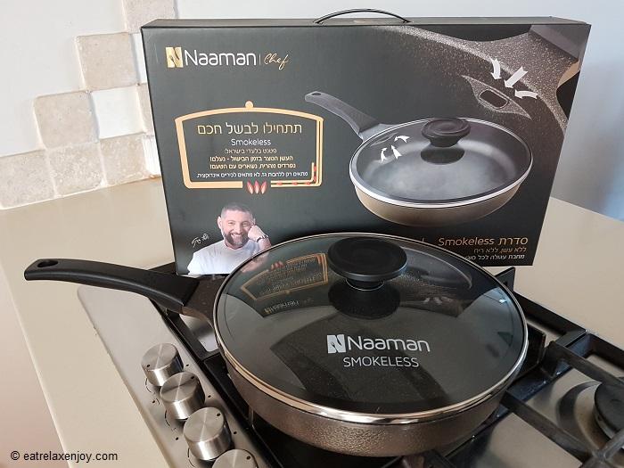 מחבת Smokeless של נעמן – לבישול וטיגון ללא עשן וריח