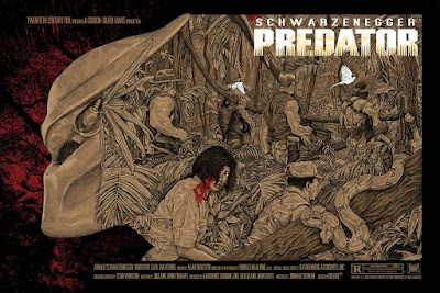 Predator Movie Poster Regular Edition Screen Print by Timothy Pittides x Bottleneck Gallery