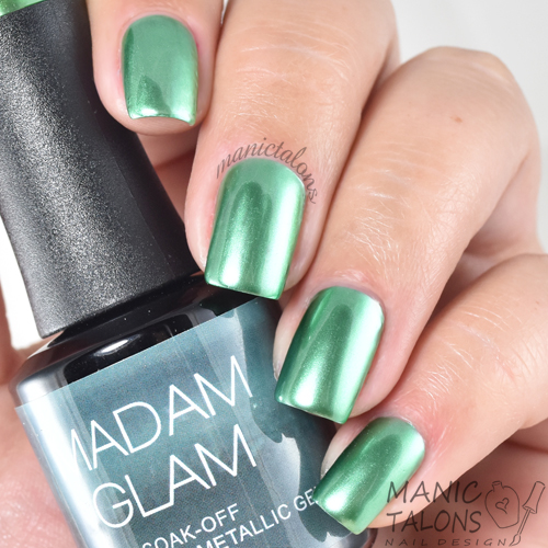 Madam Glam Metallic Gel Teasing Teal Swatch
