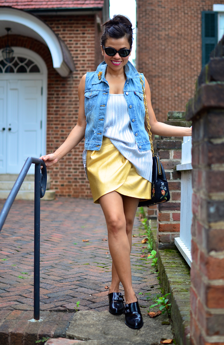 Mixed Metallics Outfit