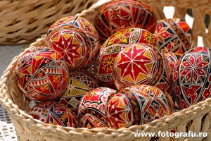 Nice colorful patterns on easter eggs