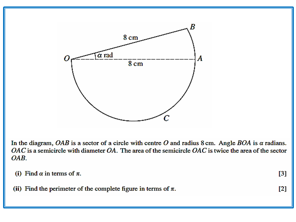 AREA AND PERIMETER OF SECTORS - CIE Math Solutions