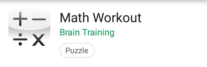 Math Workout: A Brain Training App for Data Scientist