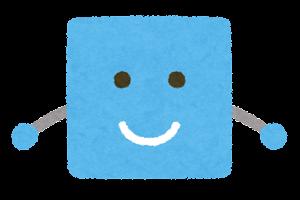 四角形のキャラクター1